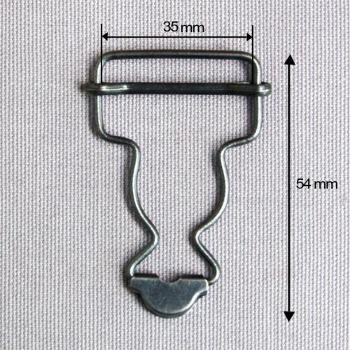BOUCLE METAL SALOPETTE POUR BRETELLE DE 35 MM ACIER PATINE TARIF DEGRESSIF