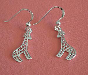 925-Sterling-Silver-Giraffe-Earrings-Giraffe-Animal-Dangle-Earrings
