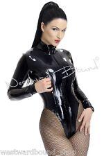 R1033 Rubber Latex Westward Bound Mistress Leotard *BLACK* £155 8 UK (Seconds)