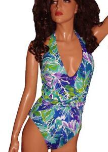 274449ca9b Womens RALPH LAUREN Slimming 1 Piece Swimsuit Swim Bathing Suit Size ...