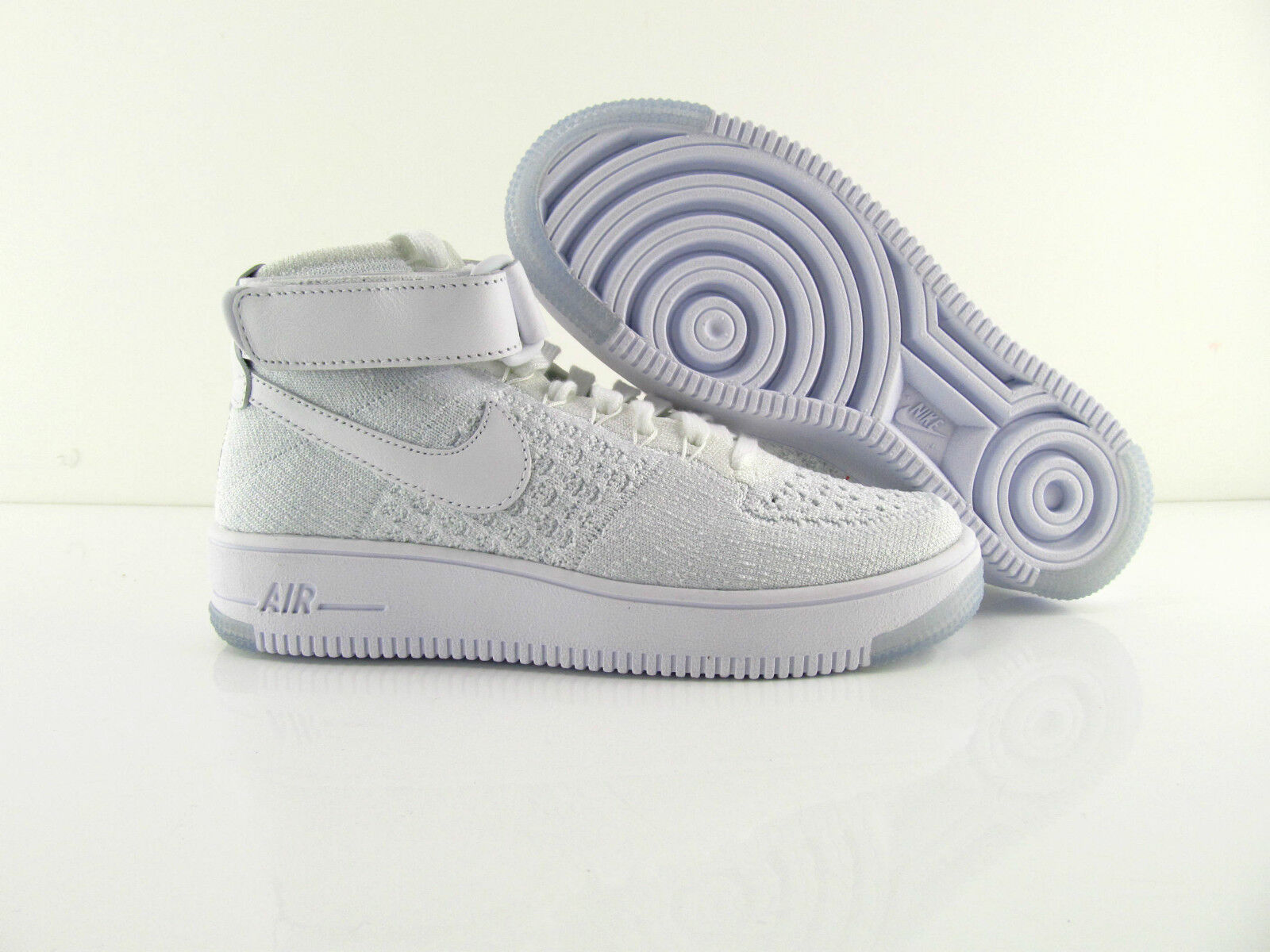 Nike Air Force 1 Flyknit Weiß Pure Platinum Turnschuhe New US_8 EUR 39