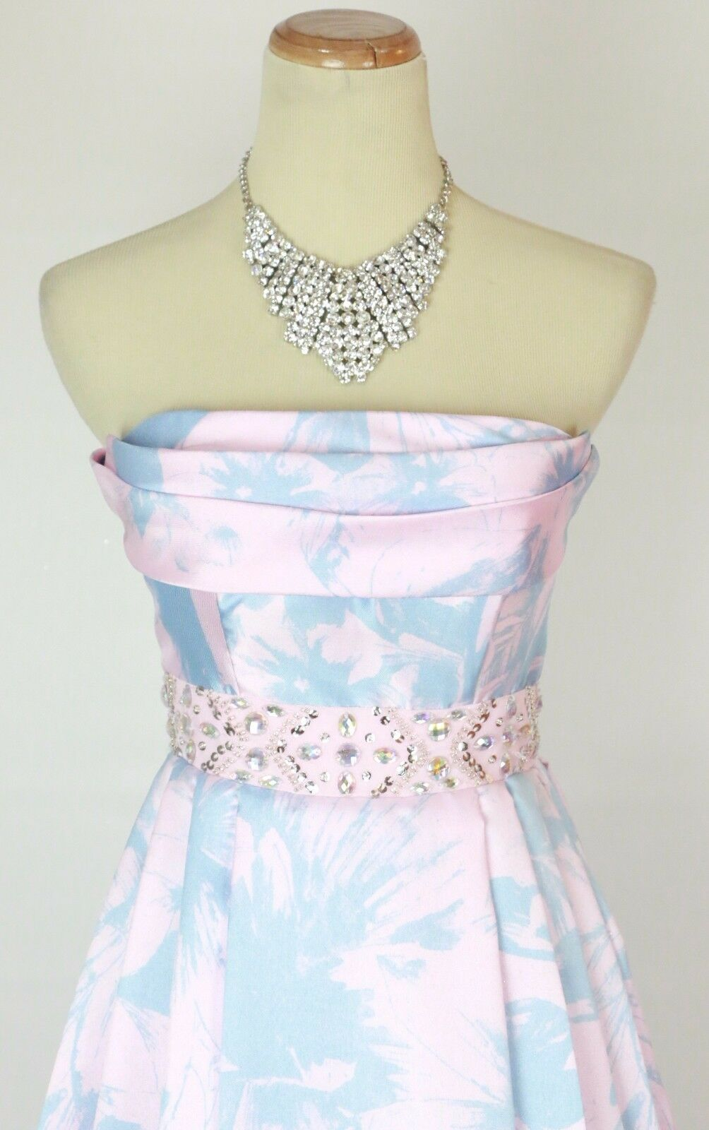 Windsor Formal Prom Evening Strapless Dress Size 1 Pink  Cruise Floral NEW