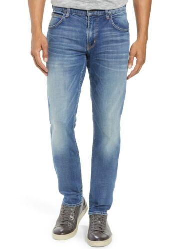 Hudson Jeans Men/'s Blake Slim Straight Jeans Airwalk Stretch Blue Denim Bridge