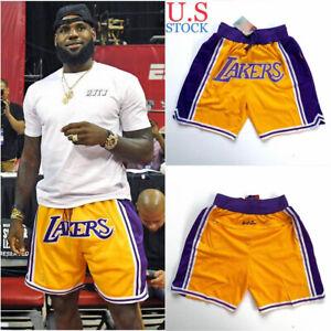 Men's Los Angeles Lakers Basketball Shorts LeBron James ...