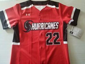 Under-Armour-Women-039-s-Hurricanes-Custom-Softball-Jersey-Size-Small