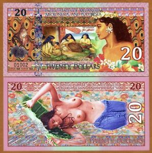 Pacific-States-of-MMP-20-Private-Issue-Polymer-gt-Weavers-Polynesian-Nude