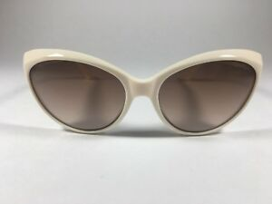 f30d18ffe8c6a Tom Ford Martina Cat Eye Sunglasses Women s Ivory White Brown Fade ...