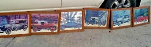 RARE Paul Melia Antique art cars pictures/prints lot signed antique cars FRAMED