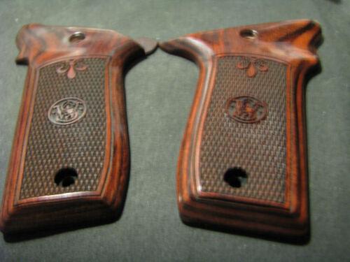 Smith Wesson .22LR VICTORY palissandre chkrd//fleur de lys pistolet poignées avec Logo Neuf!