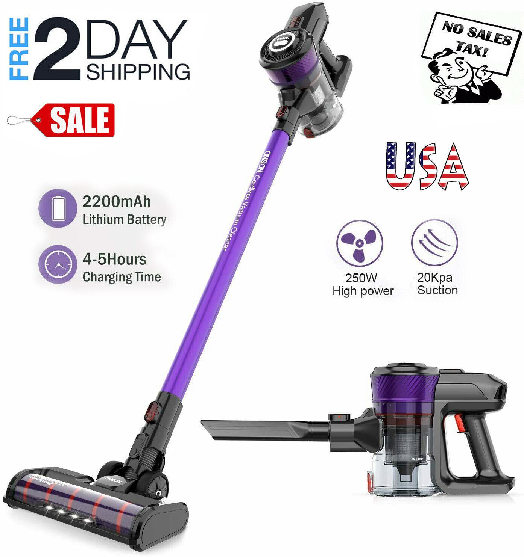 ONSON Handheld Cordless Vacuum Cleaner 20KPa For Home Hard F