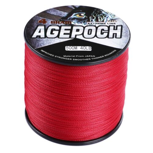 Agepoch 100M-2000M Red Super Strong 6LB-300LB Dyneema Braided Fishing Line