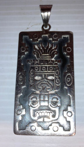 Rare Early Mexico Iguala Sterling Silver Aztec May