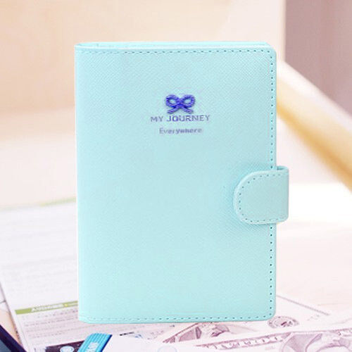 Hot Sale Women Girls Bowknot Crown Buckles E-Passport Protect Cover Case Holder