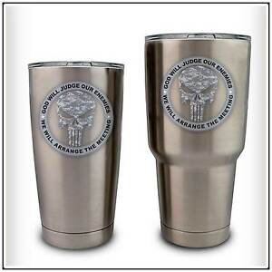 Army Skull ACU Camo Military Decal Sticker Compatible With YETI - Yeti tumbler stickers