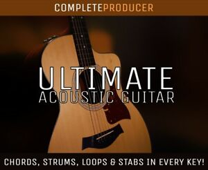 Details about Ultimate Acoustic Guitar Samples   Strums Loops Stabs Chords  ALL KEYS! ALL DAWS!