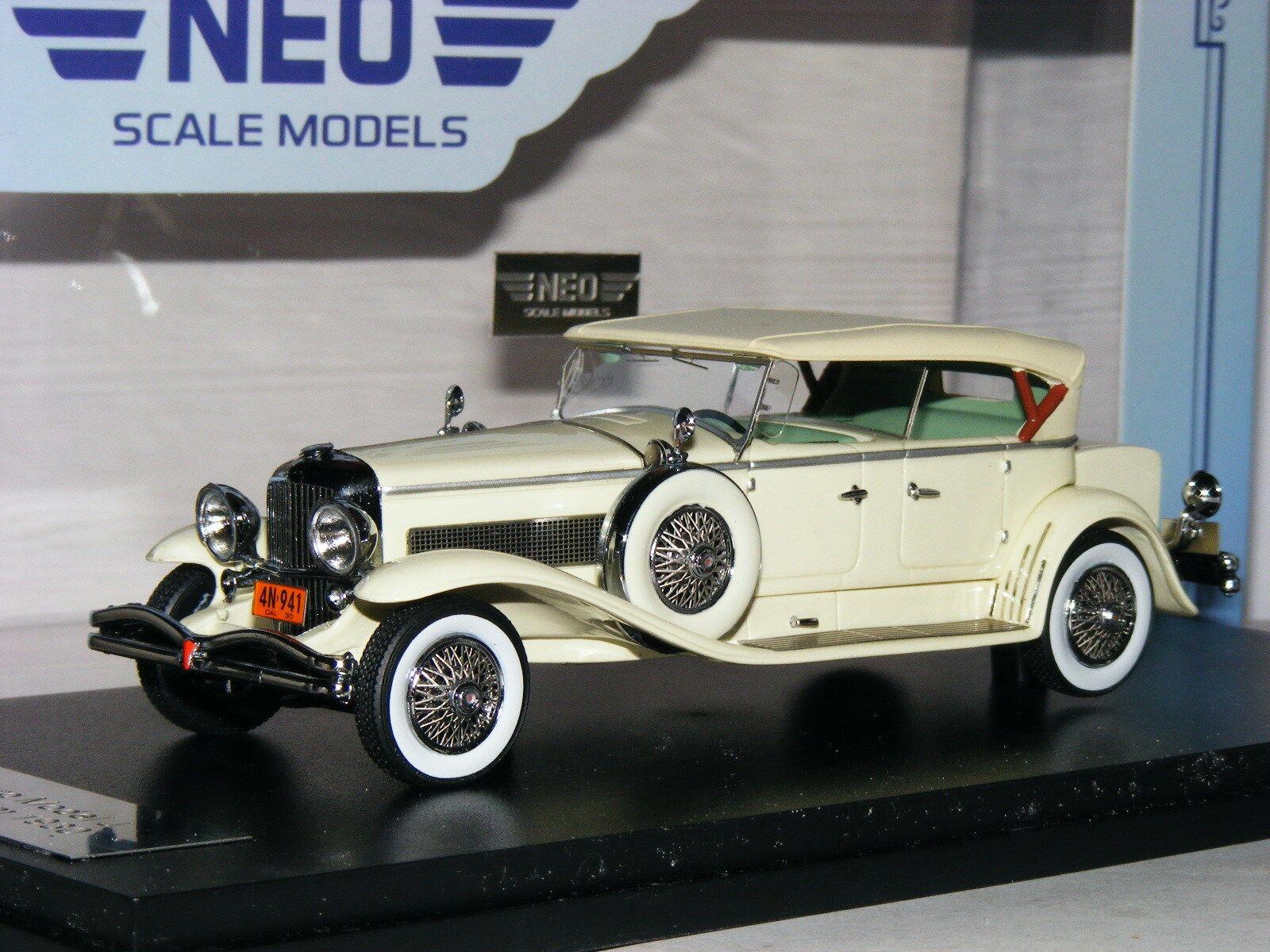 NEO 1930 Deluxe DUESENBERG MODEL J DERHAM TOURSTER ivoire 1 43