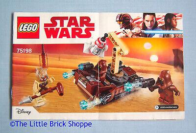 Brillante Lego Star Wars 75198 Tatooine Battle Pack-solo Libro Di Istruzioni-no Lego-mostra Il Titolo Originale Vuoi Comprare Alcuni Prodotti Nativi Cinesi?