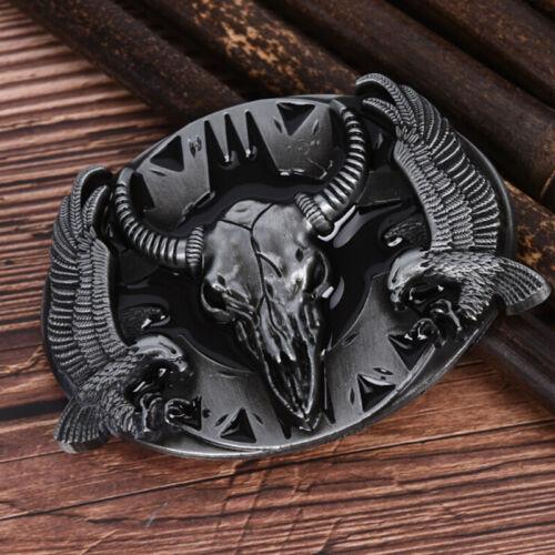 New Fashion Western Steer Charging Bull Vintage Men Rodeo Cowboy Belt BuckleRha