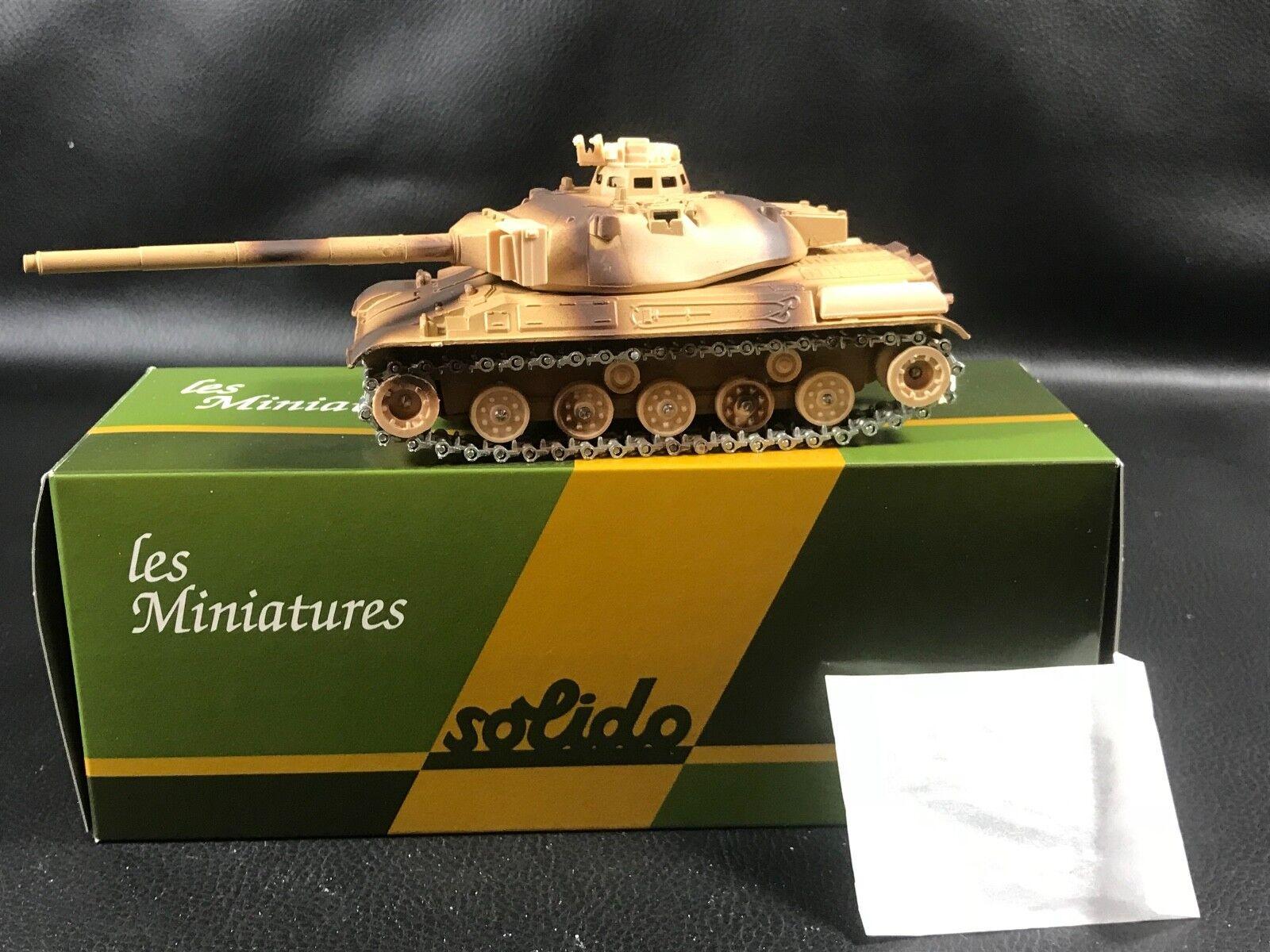 SOLIDO MINIATURE MILITAIRE CHAR AMX 30T N°32 EN BOITE + DECALCOMANIE  100