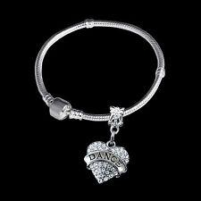 Dance Bracelet  European style bracelet Ballet Jazz Hip hop  crystal heart charm