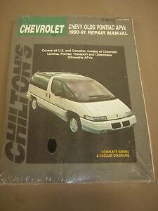 chilton repair manual chev lumina van transport silhouette apv s rh ebay com 91 Chevy Lumina TPS Location 93 Chevy Lumina Owner's Manual
