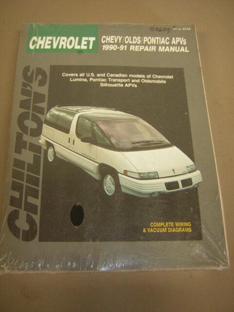 chilton repair manual chev lumina van,transport,silhouette apv's 1990-91  (8134