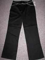 Fashion Bug Women's Stretch Black Casual Pants 8
