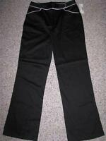 Fashion Bug Women's Stretch Black Casual Pants 8