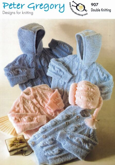 Baby Boys Girls DK Knitting Pattern for Hoodies, Jacket, Sweater & Hat  PG 907