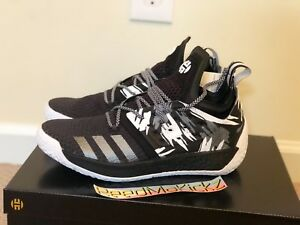 Adidas James Harden Vol 2 Traffic Jam Black white Mens sizes AH2217 ... cb8bd9d46e