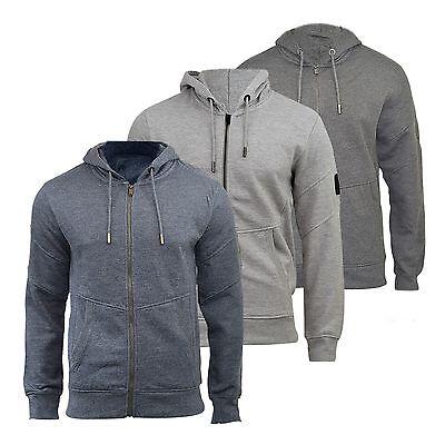 Mens Hoodie Smith /& Jones Amorino Zip Up Hooded Sweater Warm Sweatshirt