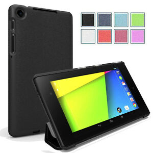 Poetic-Slimline-039-039-Lightweight-Smart-034-Case-For-Google-Nexus-7-2nd-Gen-2013-Black