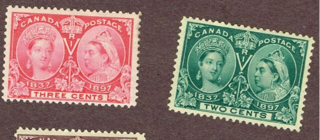 CANADA JUBILEE #52 53 VF  MH     (BER2