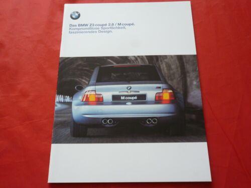 BMW z3 e36//8 COUPE 2.8 M Coupe prospetto brochure di 1998