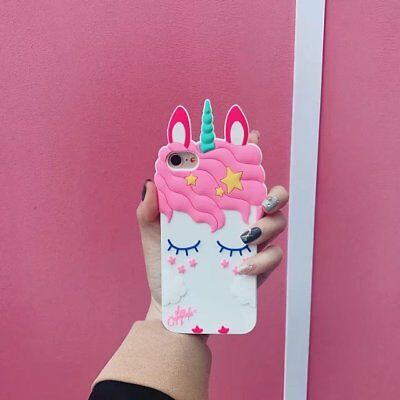 Shy unicorn Cartoon Phone Case Cover Soft Silicone For iPhone 5 6 6s 7 8 X Plus