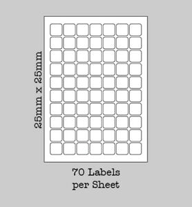 transparent square labels on a4 sheets clear waterproof for laser