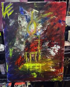 Original-Canvas-Acriylic-abstract-art-called-Suicidal-Thoughts