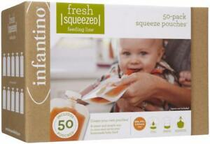 Infantino-Fresh-Squeezed-Squeeze-Pouches-Baby-Food-Pouches-Pack-of-50