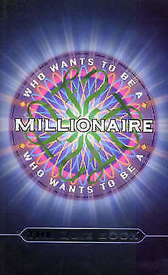 """""""AS NEW"""" """"Who Wants to be a Millionaire?"""": The Quiz Book, Quizmasters, Book"""