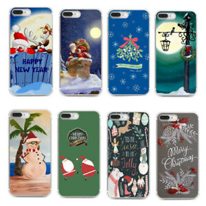 Xmas-Christmas-New-Year-Pattern-Silicone-Soft-TPU-Back-Case-Cover-For-Huawei-P10