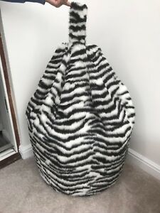 Fabulous Details About Bean Bag Cover Only Black White Zebra Animal Print Faux Fur 6 Cubic Ft Size Pdpeps Interior Chair Design Pdpepsorg