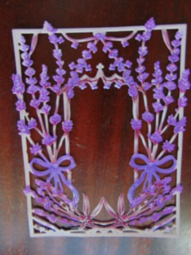 Tattered Lace Die Cuts fleurs coupées Cadre Lavande Twilight 12 Couleurs Imprimé
