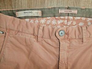 Mango Hombre Suave Elastizado Peachy Tan Chinos Inteligentes Pantalones W28 A Estrenar Con Las Etiquetas Ebay