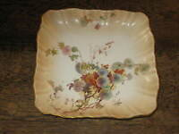 LOVELY DOULTON BURSLEM FOOTED BOWL PAINTED FLOWERS DESIGN ART NOUVEAU