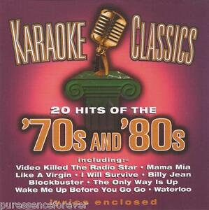 V-A-Karaoke-Classics-20-Hits-Of-The-039-70s-amp-039-80s-UK-20-Tk-CD-Album
