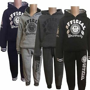Boys-2-Pieces-Outfit-Sport-Set-Tracksuit-Jacket-amp-Jogging-Pants-Bottom-3-14-163