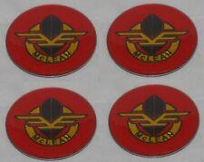 4 Red Mclean Wire Wheel Rim Center Cap Round Sticker Logo 175 44mm Dia