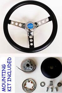 70-73-C10-C20-C30-Blazer-Grant-Black-Steering-Wheel-Blue-Bowtie-cap-13-1-2-034
