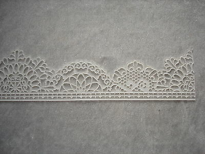 edible lace for cake decoration in black,white, ivory and red