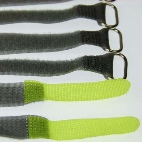 20 velcro bridas 160 x 16 mm amarillo flúor FK cable cinta de velcro cable velcro cinta de velcro